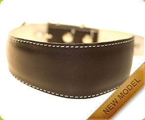 Classic brown leather collar for hounds