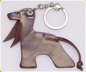 Brown Afghan Hound key ring / charm - Dog Moda