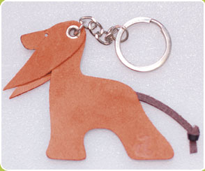 Red with Red Ears Afghan Hound key ring - Dog Moda